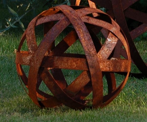 Metallkugel 30 cm woodsteel sch ne dinge f r haus und garten - Metallkugel garten ...