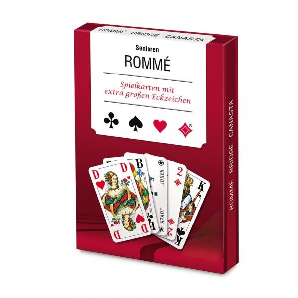 Spielkarten mit extra großen Eckzeichen