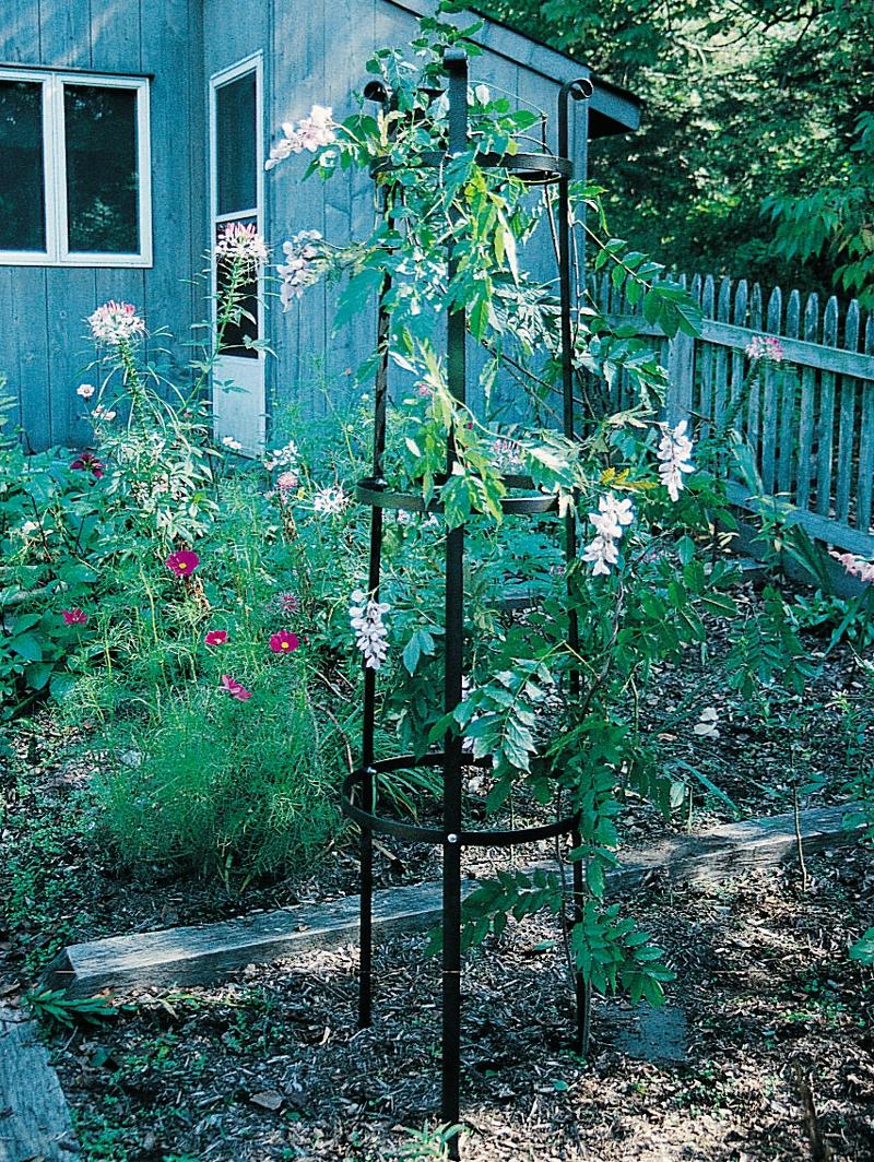 rosen turm 198 cm aus stahl handgefertigt woodsteel sch ne dinge f r haus und garten. Black Bedroom Furniture Sets. Home Design Ideas