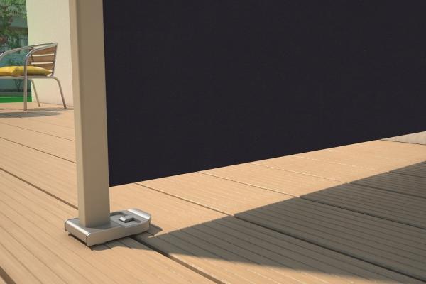 Flexibler Seitensichtschutz, ausziehbar