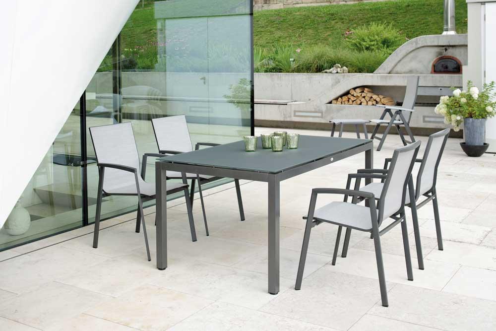 tisch mit glasplatte 90 woodsteel sch ne dinge f r haus und garten. Black Bedroom Furniture Sets. Home Design Ideas