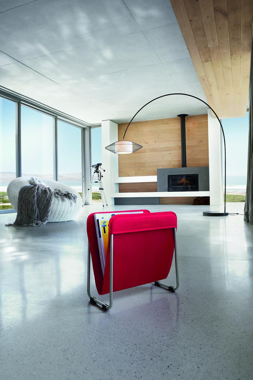 zeitschriftenst nder aus satiniertem edelstahl woodsteel sch ne dinge f r haus und garten. Black Bedroom Furniture Sets. Home Design Ideas