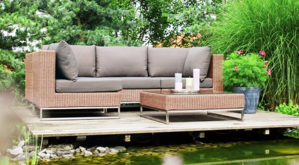 Outdoor Mittelmodul in Loom-Optik