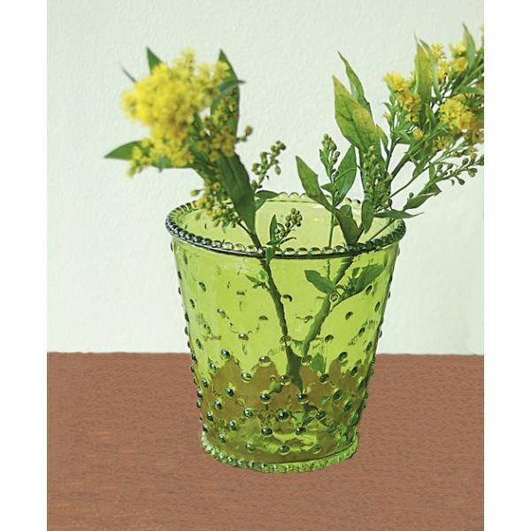 Glasgefäß mit Noppen, 2er-Set
