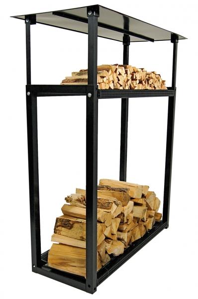 Überdachter Feuerholzständer