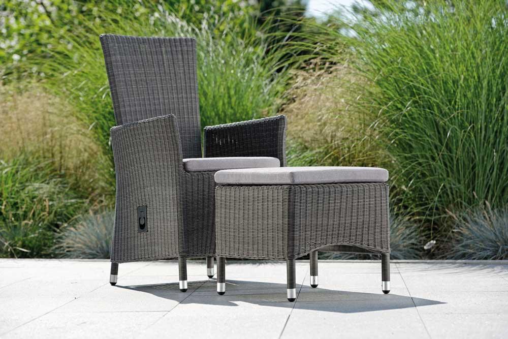 auflage f r hocker loom optik grau woodsteel sch ne. Black Bedroom Furniture Sets. Home Design Ideas