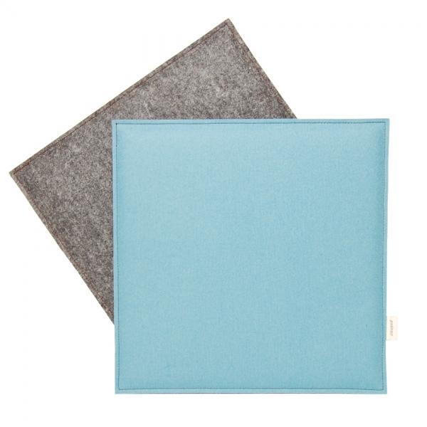 Sitzkissen aus reinem Wollfilz, taubenblau