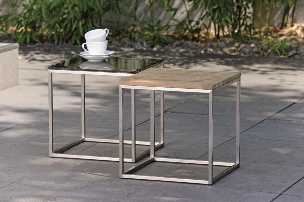 Outdoor-Beistelltisch, Glasplatte