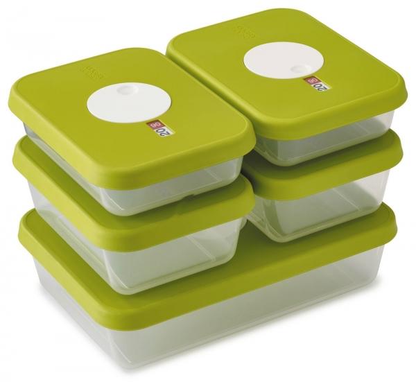 Frischhalteboxen-Set mit Datumsanzeige
