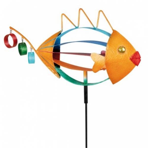 Design Gartenstecker Fisch