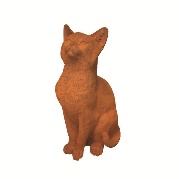 Katze, Gusseisen-Figur