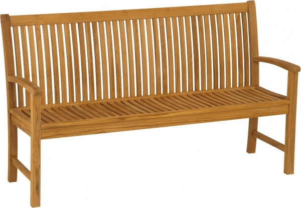 Gartenbank aus Teakholz, 3-Sitzer