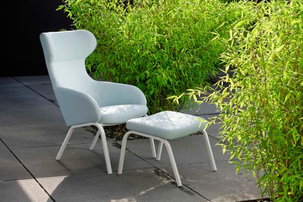 outdoor hocker f r ohrensessel woodsteel sch ne dinge f r haus und garten. Black Bedroom Furniture Sets. Home Design Ideas