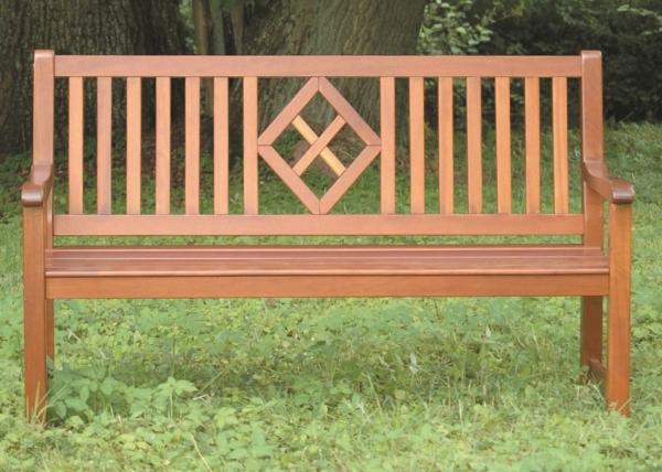 """Gartenbank """"Tirol"""", 3-Sitzer, Natur, 3-fach lackiert"""