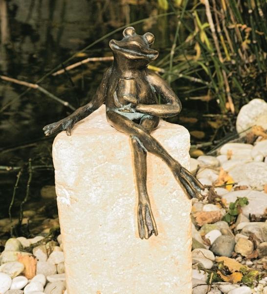 Froschfigur Theo, Bronze-Skulptur