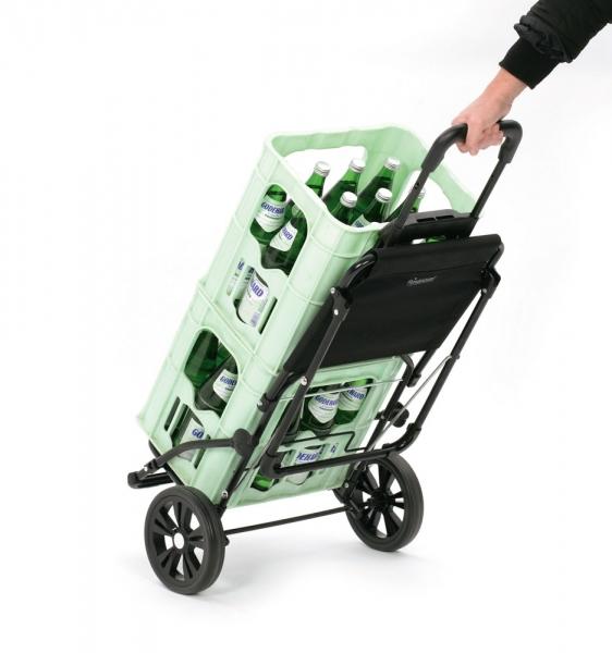 Einkaufstrolley / Shopper mit ausklappbarem Sitz