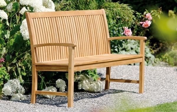 Gartenbank aus Teakholz, 4-Sitzer