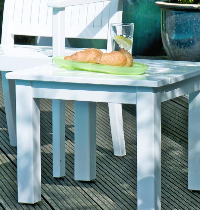 tisch newport quadratisch woodsteel sch ne dinge f r haus und garten. Black Bedroom Furniture Sets. Home Design Ideas