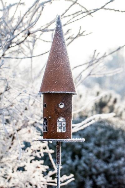 Vogelhaus aus Edelrost
