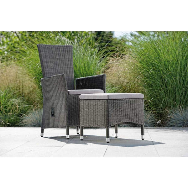 Hocker zum Relax-Sessel, Loom Optik
