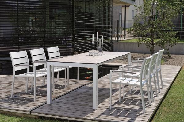 Tisch 160, Gestell weiß