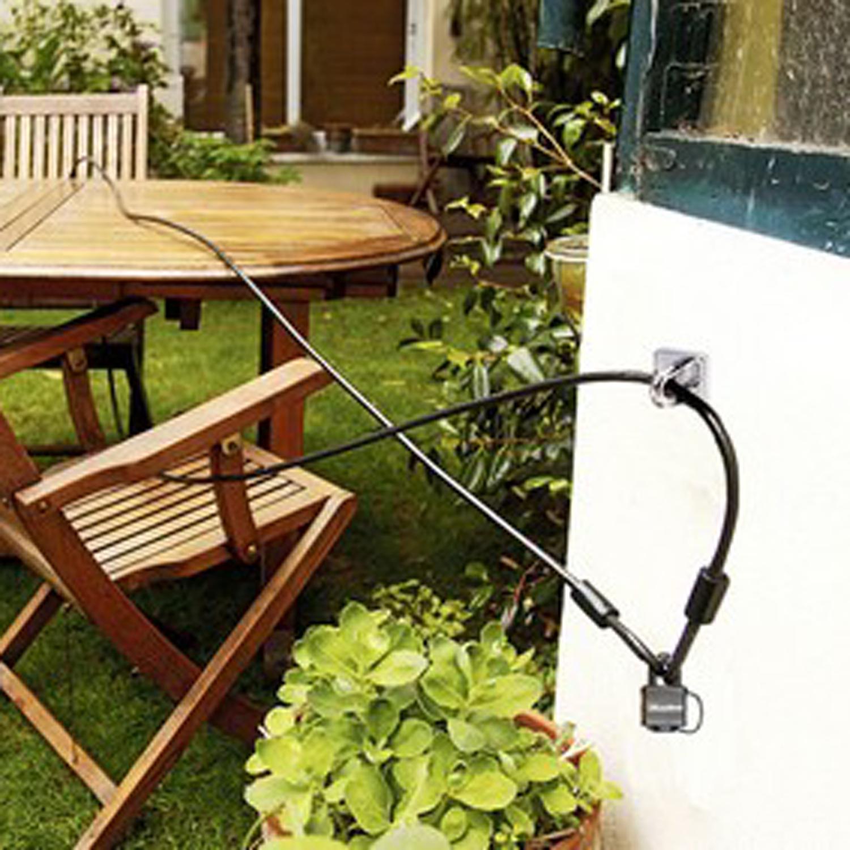diebstahlschutz im garten sicherungs set woodsteel sch ne dinge f r haus und garten. Black Bedroom Furniture Sets. Home Design Ideas