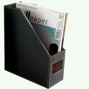 Zeitschriftenordner, Leder