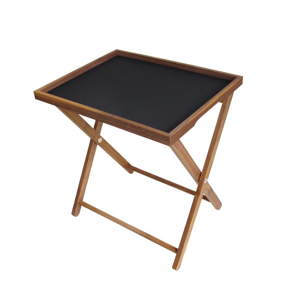 hochwertiger tablett tisch aus nussbaumholz woodsteel sch ne dinge f r haus und garten. Black Bedroom Furniture Sets. Home Design Ideas