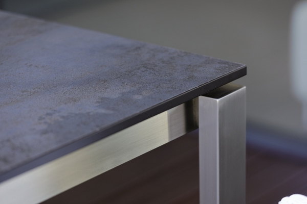 Gartentisch 160 Cm Mit Hpl Oder Teak Tischplatte Woodsteel