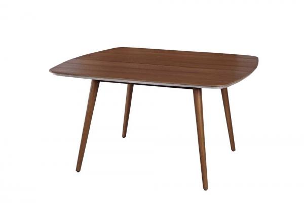 Quadratischer Tisch in Holz-Optik
