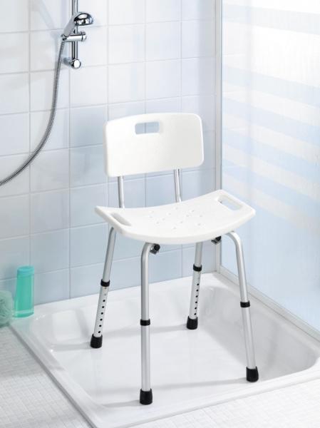 Badhocker mit höhenverstellbarer Sitzfläche