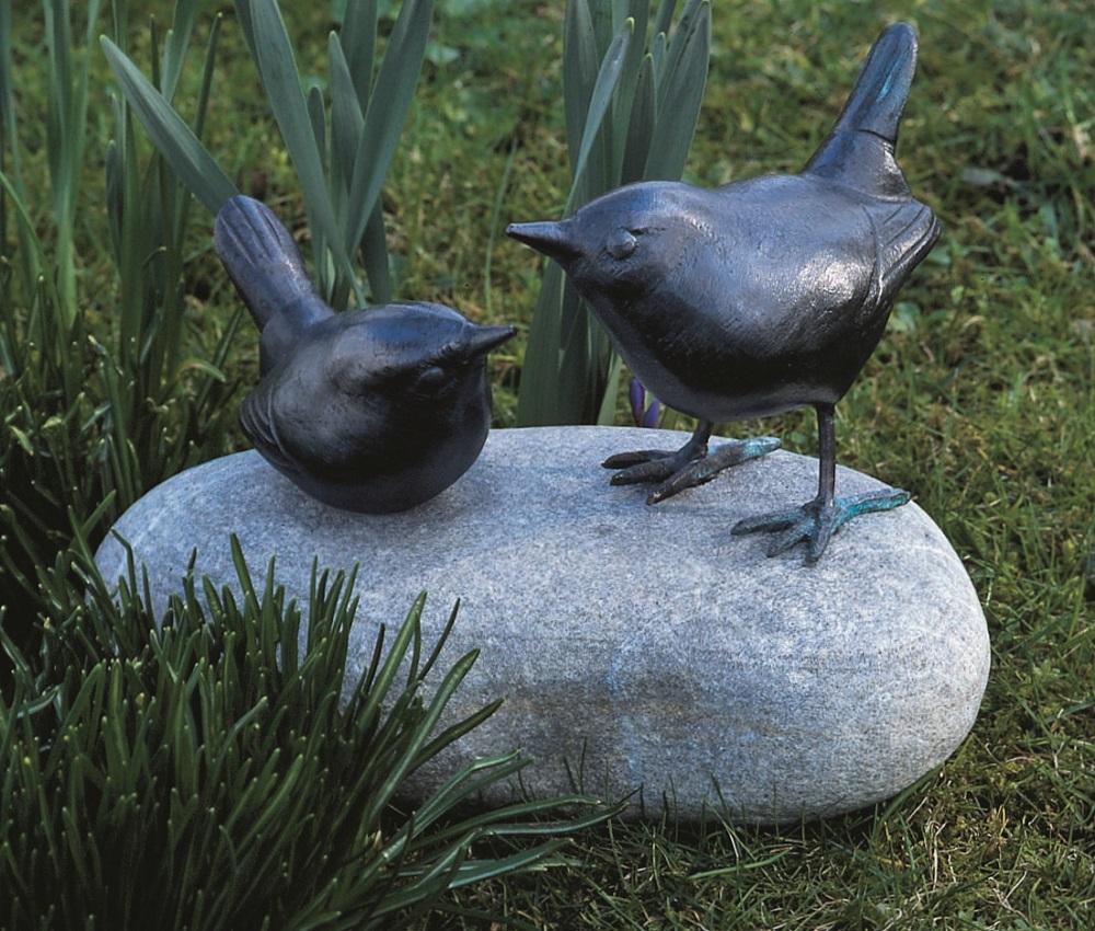 zaunk nigspaar tierskulptur aus kupfer woodsteel. Black Bedroom Furniture Sets. Home Design Ideas