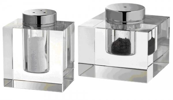 Salz- und Pfefferstreuer, Kristallglas